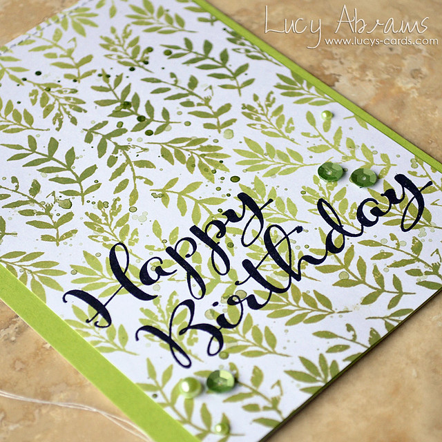 Birthday Leaves 2 by Lucy Abrams
