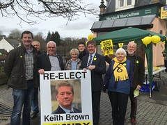 Keith Brown campaigning in Dunblane, Scottish Parliament Elections, April 2016