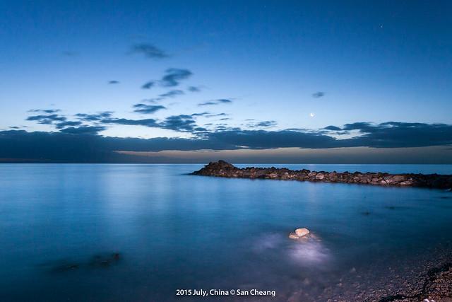 日出青海湖
