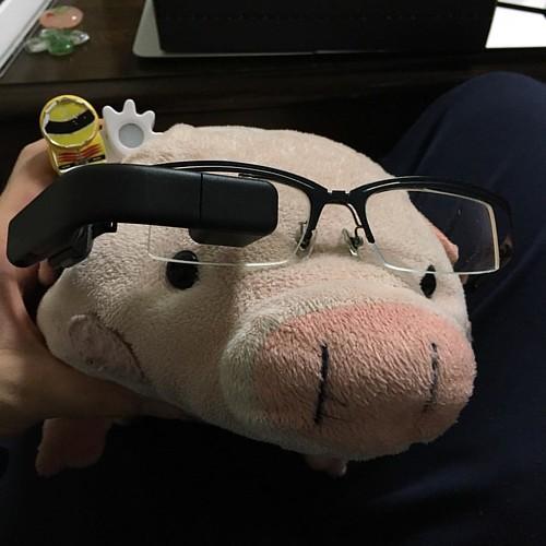 Vufineを取り付けたメガネをかけてみる。どんなもんか…。