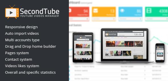 CodeCanyon SecondTube v1.0.0 - YouTube Videos Manager