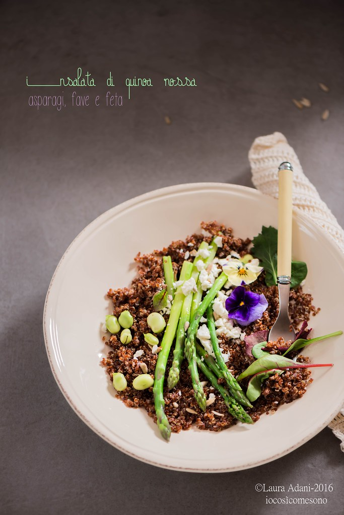 quinoa salad with asparagus and feta cheese