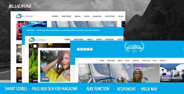 Bluemag v1.1 - A Smart Scroll Blog / Magazine WordPress Responsive Theme