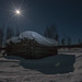 Small photo of Night Time In Lapland