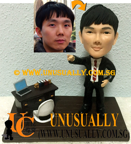 Custom 3D Male Executive At Office Figurine 1 - © www.unusually.com.sg