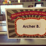 Archer started a new school today, he had a great first day and met lots of new friends. by bartlewife