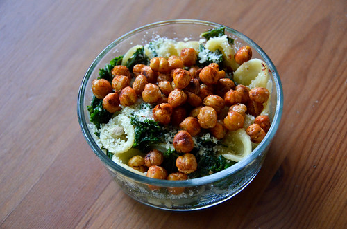 Orecchiette Pasta & Roasted Chickpeas with Kale & Smoked Paprika