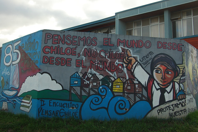 Mural in Castro, Chiloé, Chile