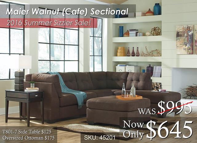 Maier Walnut Cafe Summer Sale