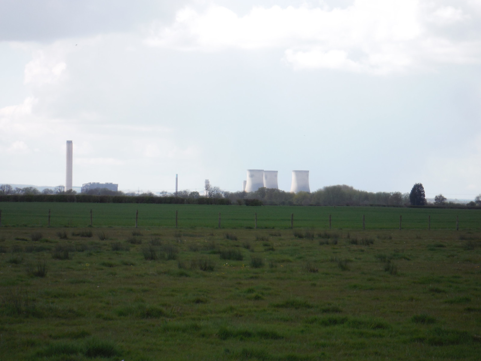 Didcot Power Station from Isis Meadows SWC Walk 44 - Didcot Circular
