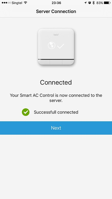 tado iOS App - Server Connected
