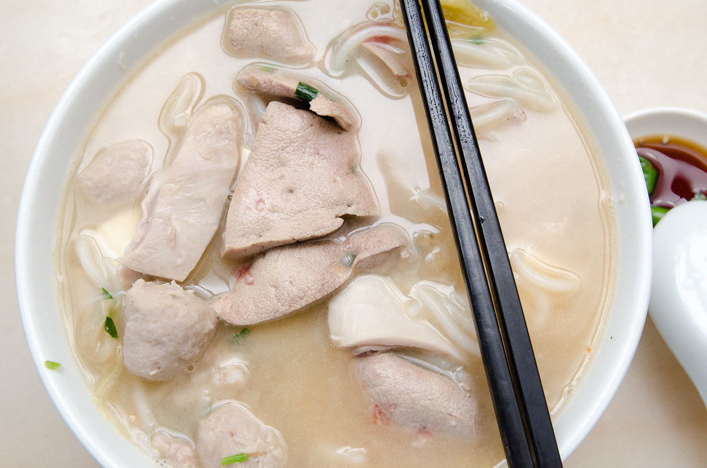 Hon Kei Food Corner's Pork Noodle with pork liver