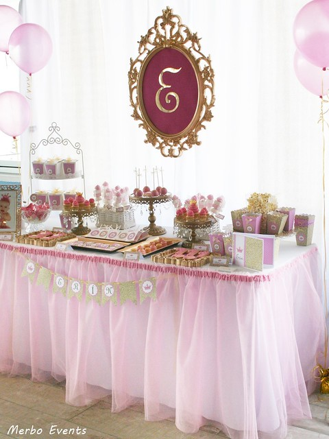 Mesa dulce princesas Merbo Events