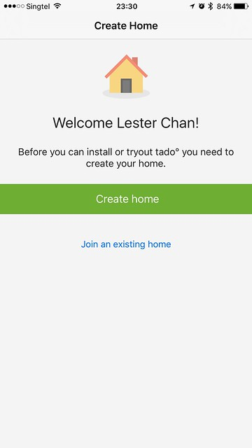 tado iOS App - Create Home