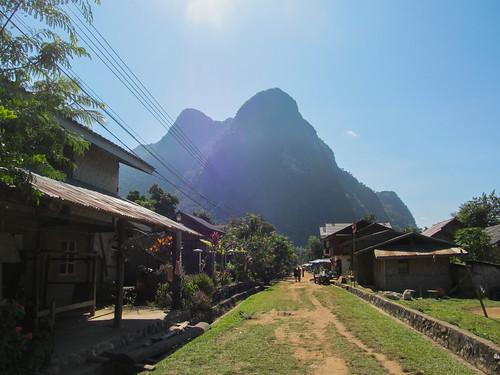 Muang Ngoi: la rue principale