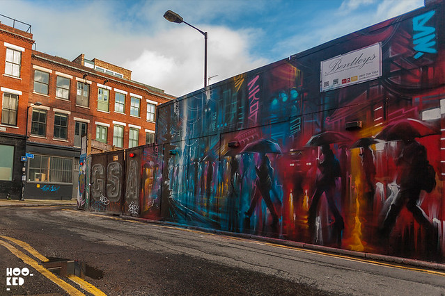 Street Art Mural painted by London street artist Dan Kitchener aka DANK