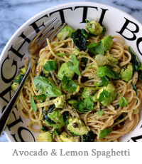 Avocado & Lemon Zest Spaghetti