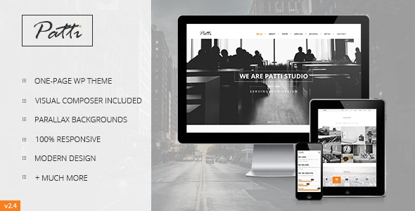 Patti v2.8.1 – Parallax One Page WordPress Theme
