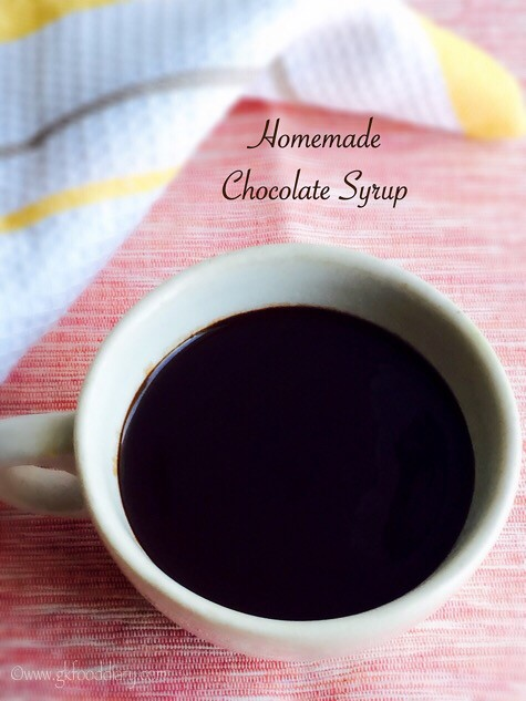 Homemade Chocolate Syrup Recipe for Toddlers and Kids 2