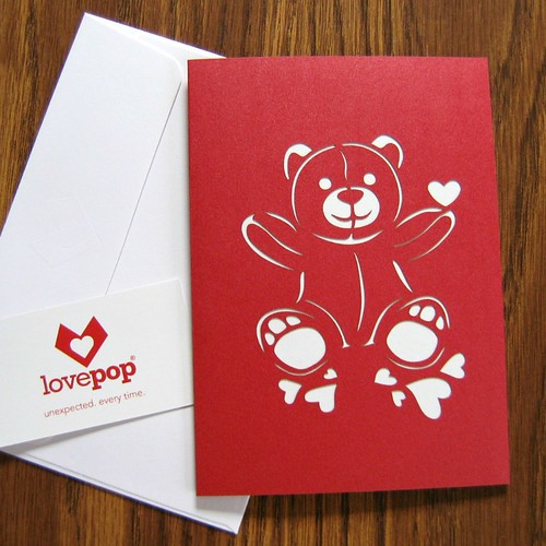 LovePop Cards - I Heart You Valentine Bear Cover