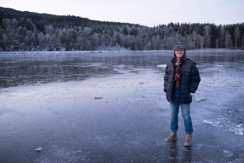 Sognsvann Frozen Lake