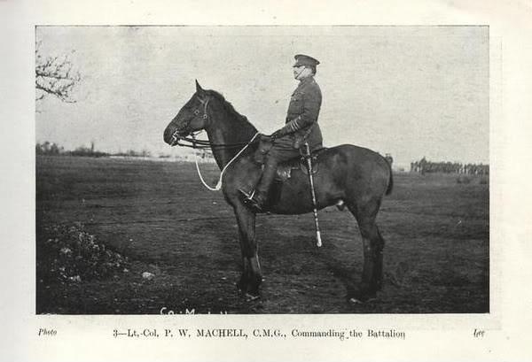 Colonel P.W. Machell, C.O. Lonsdale Battalion