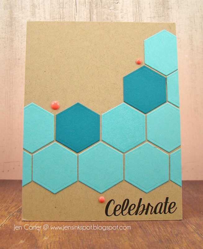 Jen Carter Hexagon Celebrate Front