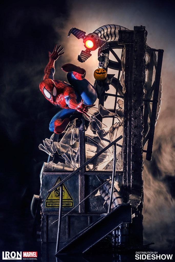 【完整官圖、販售資訊更新】Iron Studios【蜘蛛人】Spider-Man 1/4 比例 全身戰鬥場景雕像