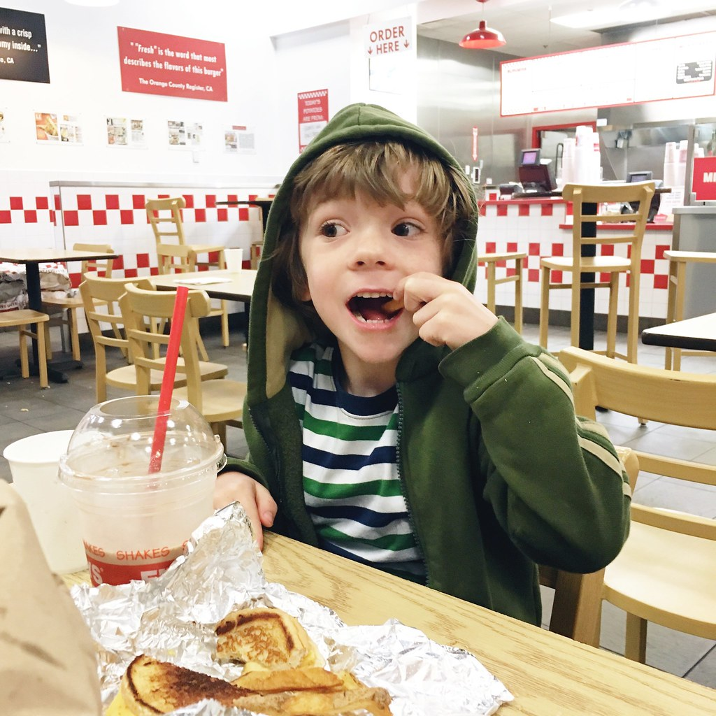 Eating at Five Guys