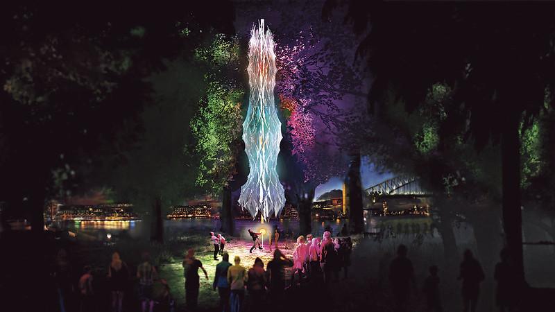 Royal Botanic Garden Sydney - Sentiment Cocoon - artist impression by Moritz Behrens
