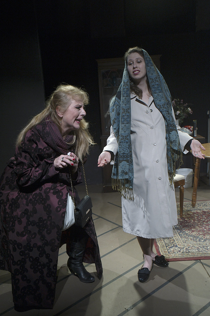 <p>Hanna Bondarewska as Antonia and Moriah Whiteman as Margherita<br /> ...from all those roses, out pops a baby...ten months old and already talking: Daddy, daddy.....<br /> <br /> Photo by Valentin Radev</p>