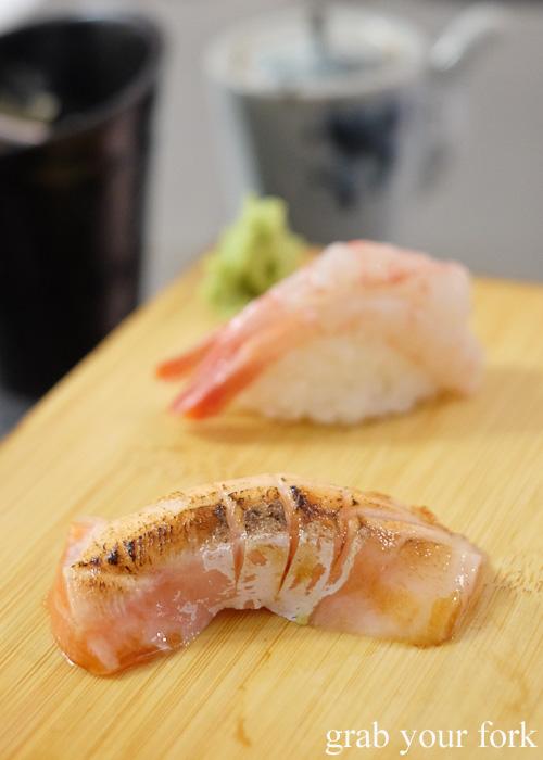 Aburi salmon belly sushi at Sashimi Shinsengumi, Crows Nest