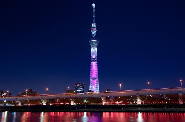 東京スカイツリー桜特別ライティング 2016 Tokyo Skytree in The Special Lighting