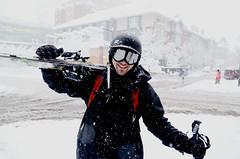 Urban Snow Skier