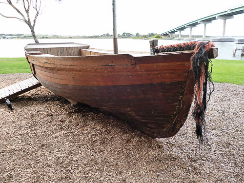 old wood boat