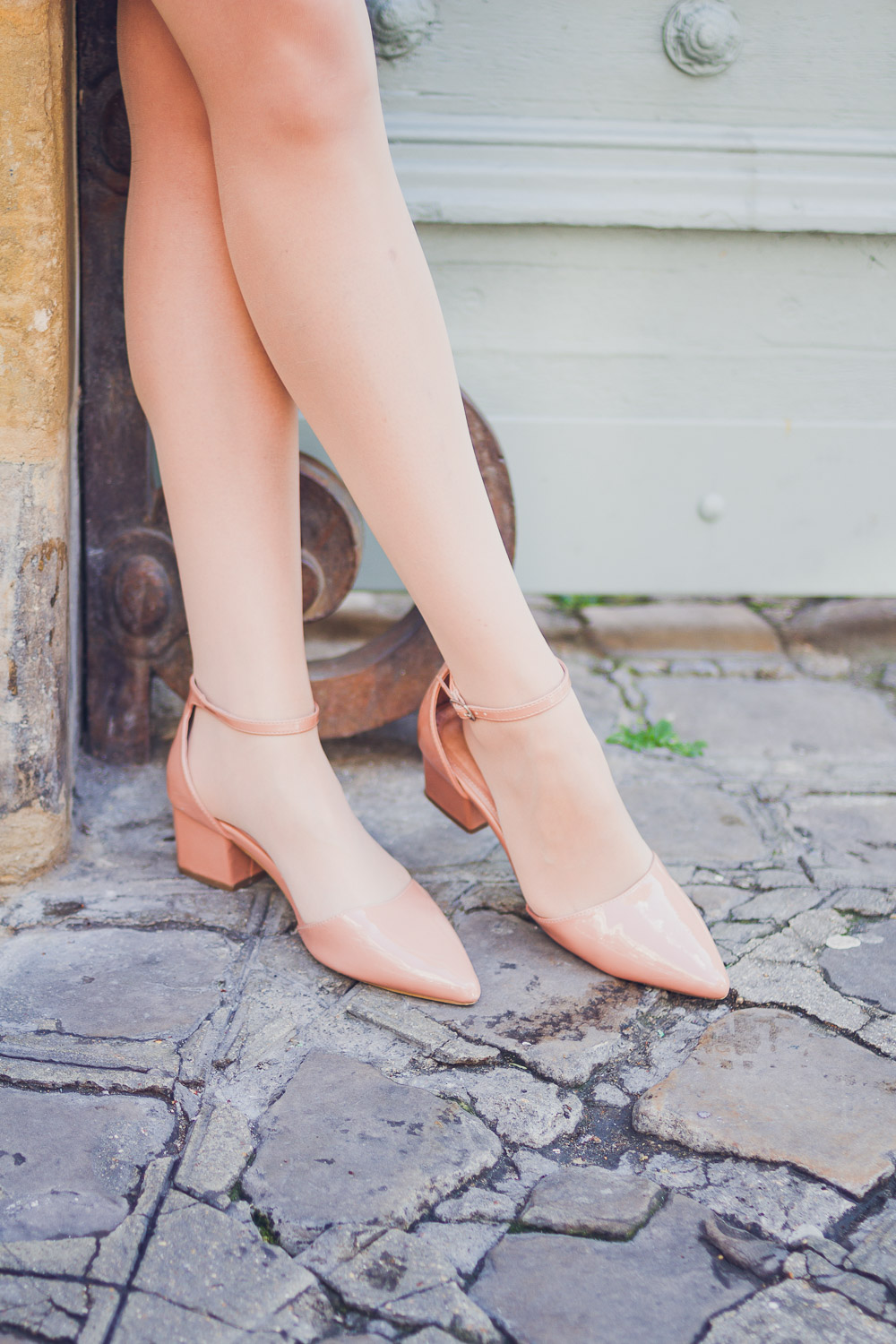 pointed nude block heel shoes next