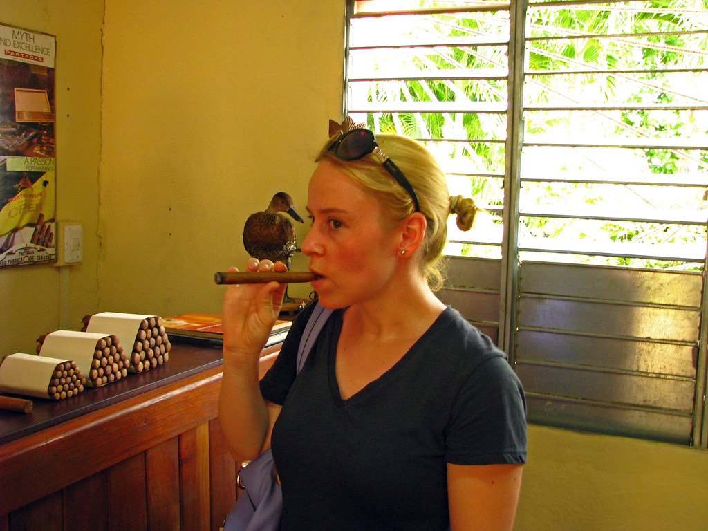On a holiday in Cuba, you have to taste a cigar