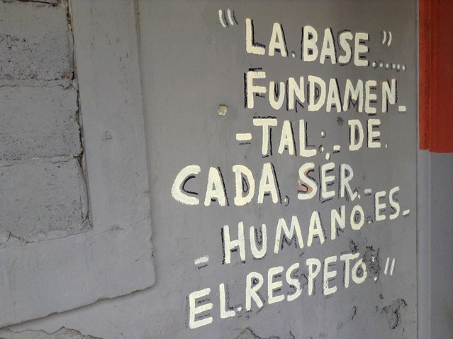 Poetry on the walls in Panama City