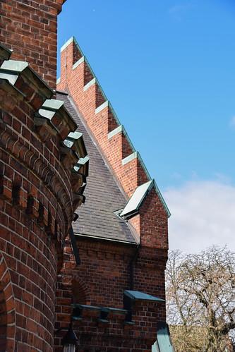 city church se sweden sverige cityview trelleborg skånelän stnicolaikyrka