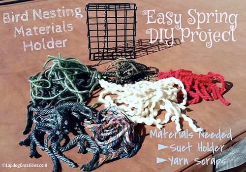 Make a Bird Nesting Materials Holder - Easy DIY Project #kidscrafts #DIY #wildlife #birds #LapdogCreations ©LapdogCreations