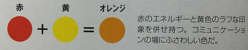 使える色彩学、赤黄オレンジ