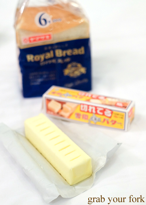 Hokkaido butter with Royal Bread in Hakodate, Japan