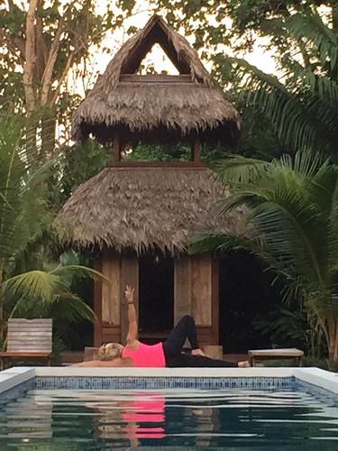Practice Yoga Anywhere Blue Osa Temple