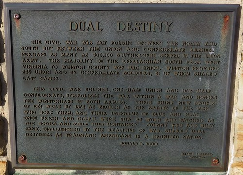 Winston County Civil War Monument Plaque (Double Springs, Alabama)