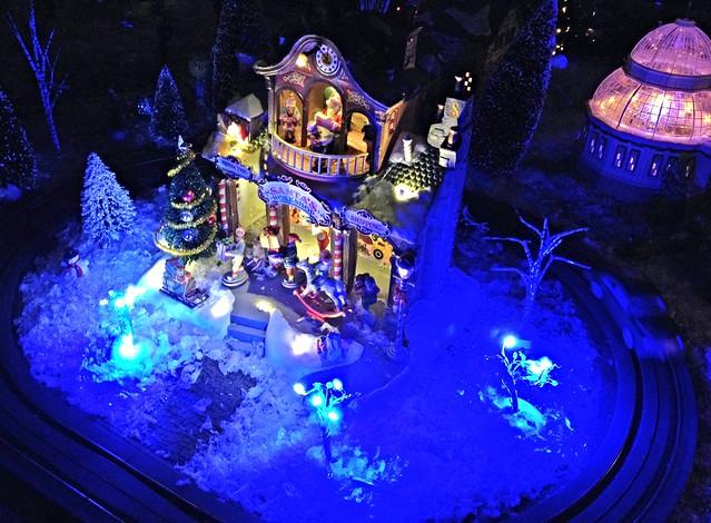 Santa's Workshop under the black light
