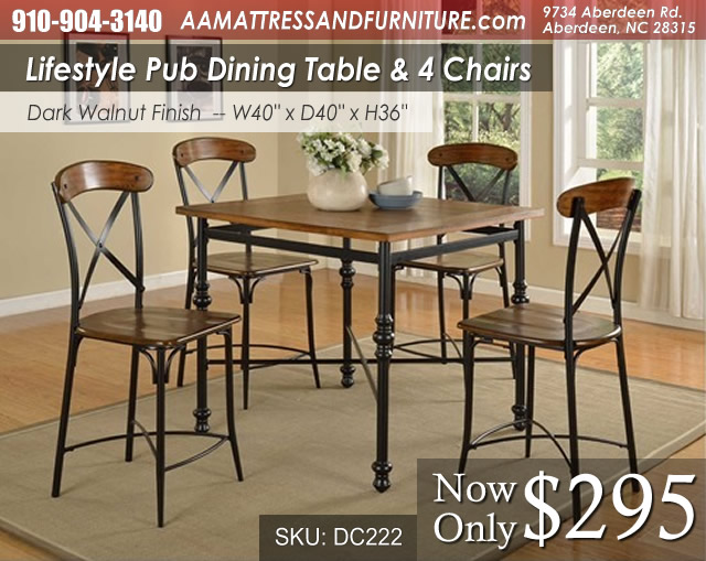 DC222DIN-Pub Lifestyle Dining Set WM