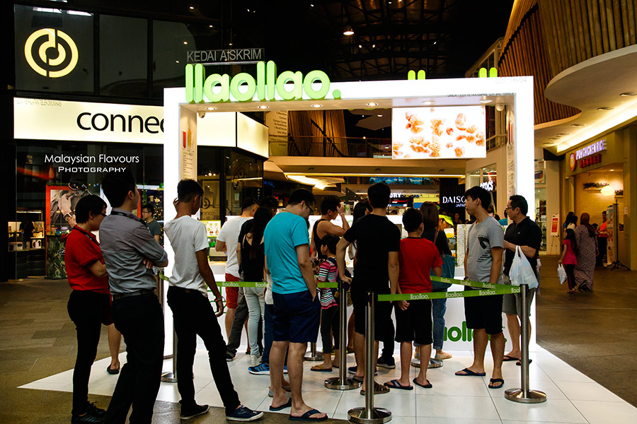 llao llao Frozen Yogurt Ice Cream Mid Valley KL Malaysia