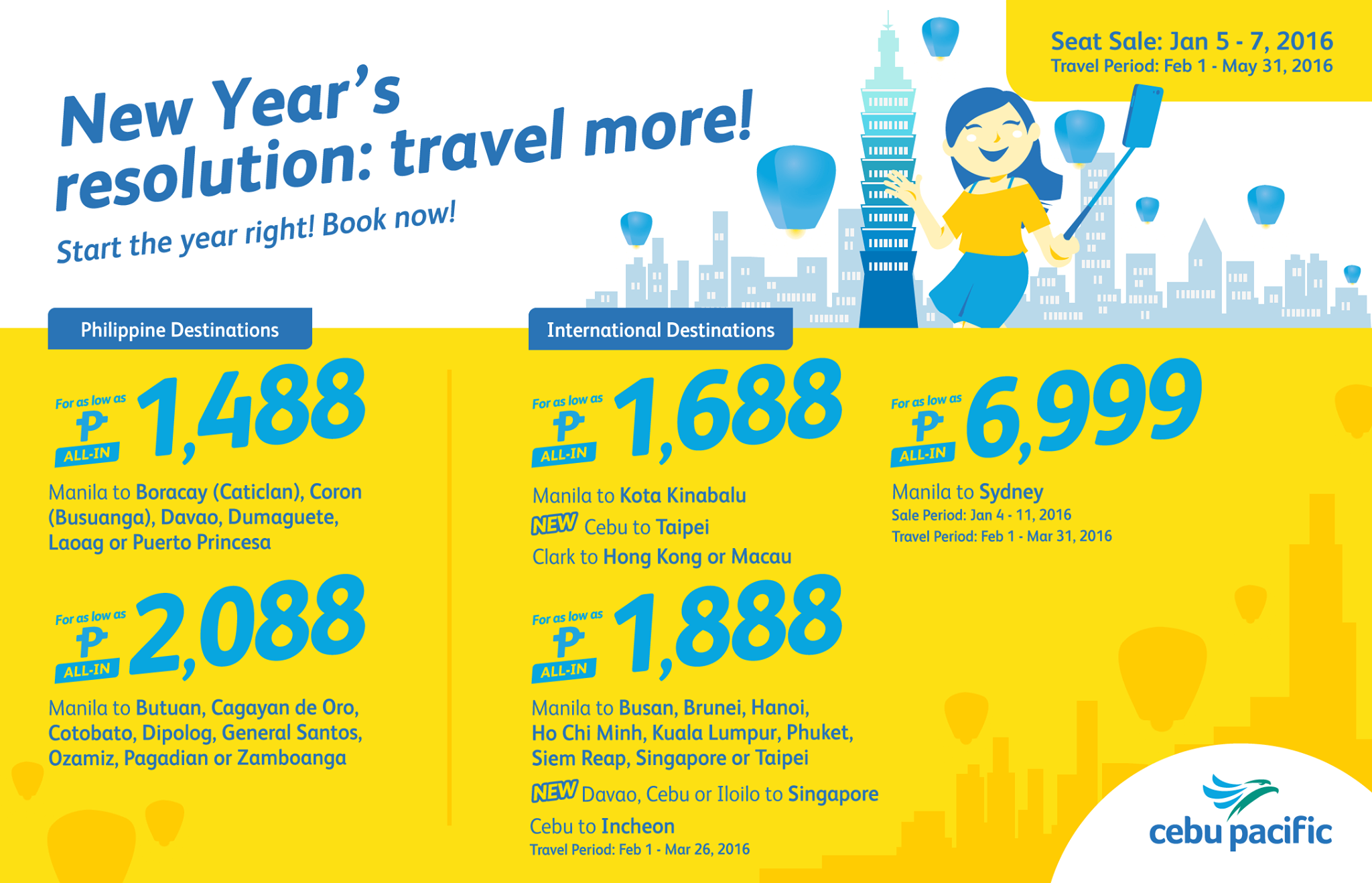 Cebu Pacific Promo January 5 2016