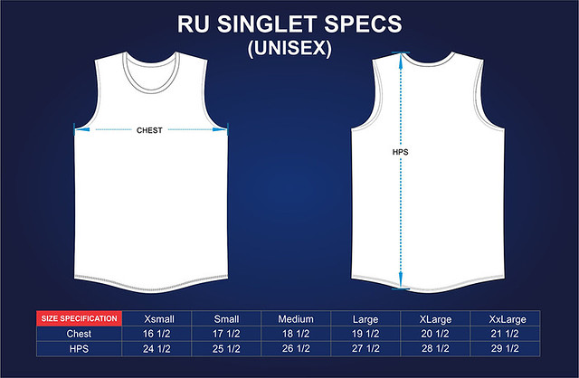 Run United 2015 Singlet Size Measurements