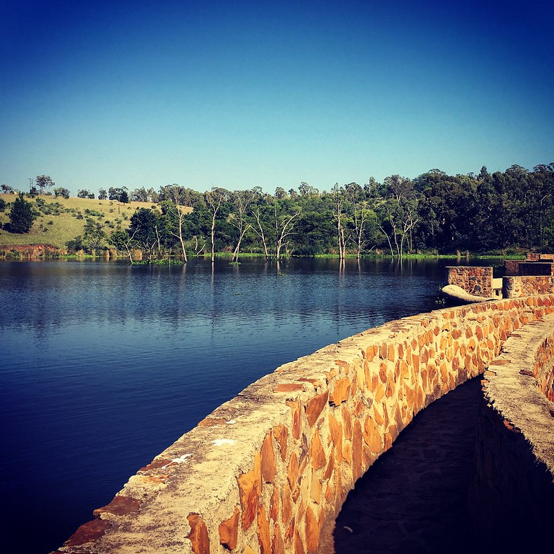 The dam at Heia Safari, great for triathlon training